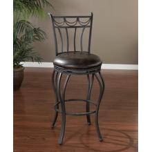 "American Heritage Billiards Abella 30"" Barstool Finished in Aged Iron"