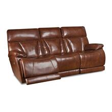 CORINTHIAN L94006-39HR Athens Brown Leather Power Reclining Sofa