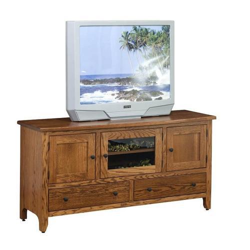 """Amish Furniture - 60"""" Shaker Economy TV Cabinet"""