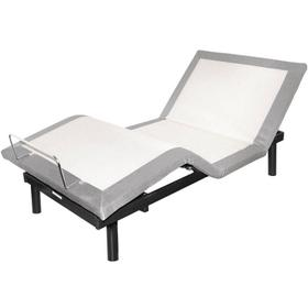 "Graphite- Queen Bed With 10"" Memory Foam Mattress"