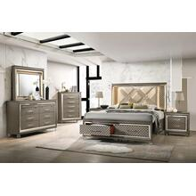 Queen Storage Bed (Available in King), Dresser, Mirror, Chest and Nightstand