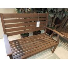 Outdoor Brown Wooden Bench