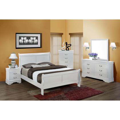Phillipe Queen 6PC. Bedroom Set - White