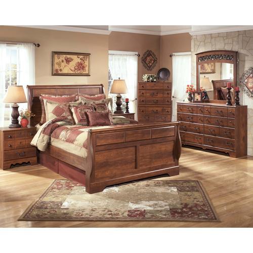 Timberline - Queen Sleigh Bed, Dresser, Mirror, & 1 X Nightstand