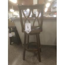 See Details - Fruitwood Finish Bar Stool Model# 15B8189BS