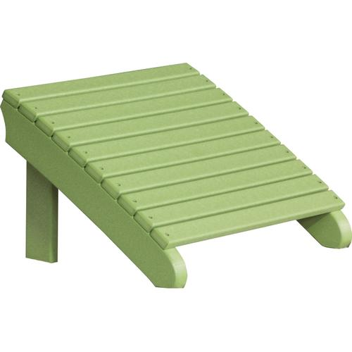 Deluxe Adirondack Footrest Lime Green