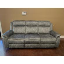 Grey Fabric Reclining Sofa
