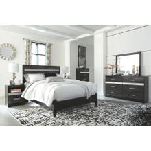 Starberry- Black- Dresser, Mirror, Chest, Nightstand & Queen Panel Bed