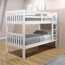 DONCO 1010-3ATTW-BTTW-CTTW Harriet Cottage Twin Over Twin Mission Bunk Bed