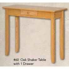 Oak Shaker Table With 1 Drawer