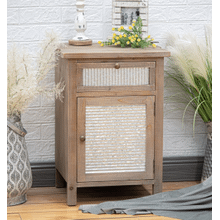 See Details - RUSTIC PINE CABINET with WASHBOARD FRONT      (AFN110NX,53123)