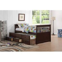 FULL CAPTAIN BED w/TWIN TRUNDLE SET