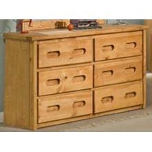Bunkhouse 6 Drawer Dresser - Amber Wash