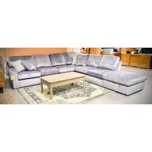 See Details - DOVELY SECTIONAL Stationary Sectional in Smoke      (M25AL-19813,M24BIG)