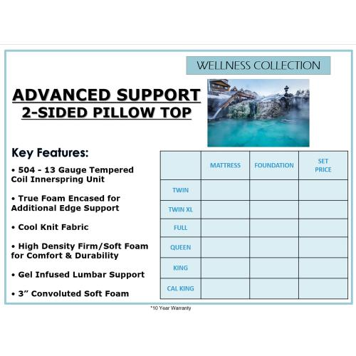Biscayne Bedding - Advanced Support 2-Sided - Pillow Top