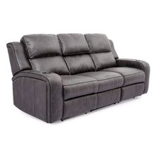 POWER HEADREST RECLINING SOFA W/ DROP DOWN TABLE AND LIGHTSin Grey   (70086-1-25667/25292GREY,40121)