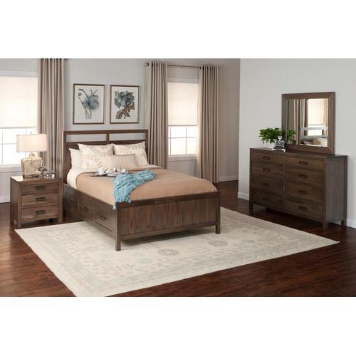 Witmer Furniture - Bayfield Storage Bed in Color #27 Oak