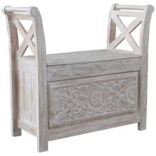 See Details - White Accent Bench