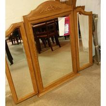 Tri view mirror