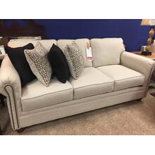 Upholstered Sofa with nail head detail (Ivory)