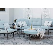 Agio Melbourne Cushioned Semi Round Sectional Patio Sofa