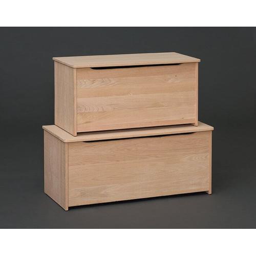 "Unfinished 42"" Oak Storage Box"