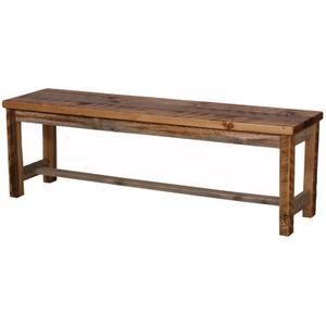 """Natural Barn Wood 56"""" Bench"""