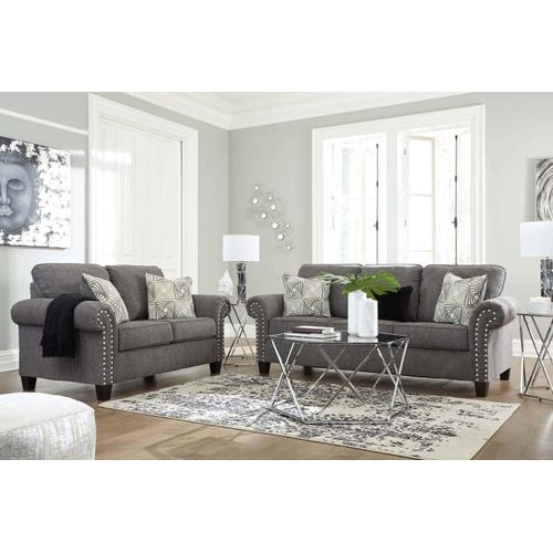 Ashley 787 Agleno Charcoal Sofa and Love