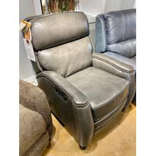 Townsend Wrenn Grey Leather Full Power Recliner