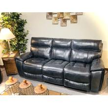 POWER CHAISE RECLINING SOFA Navy Leather/Vinyl       (5781-3,44998)