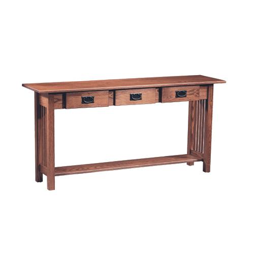 Country Value Woodworks - Mission 3 Drawer Sofa Table