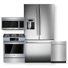 "See Details - Stainless Steel 36"" French Door Refrigerator & 30"" Dual Fuel Slide-in Range- 4 Piece Package"