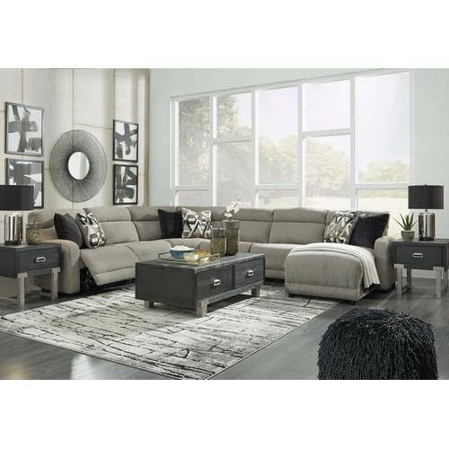 Colleyville  Stone - 2 Power Recliner Sectional with Right Facing Power Chaise