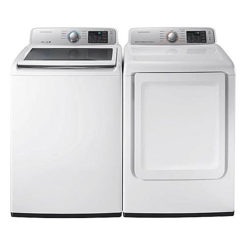 Samsung - Samsung 5.8 Cu ft Washer and 7.4 cu ft Dryer Set