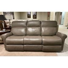 See Details - Davis Leather Power Reclining Sofa w/ Power Tilt Headrest