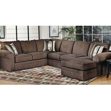 9900 3 Pc. Sectional in Chocolate with Right Facing Chaise/Left Facing Sofa