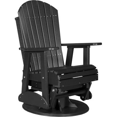 Adirondack Swivel Glider 2' Black