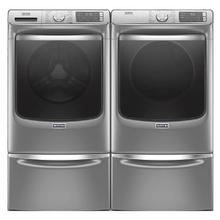 MAYTAG Extra Power 4.5 cu. ft. Front Load Washer & 7.3 cu. ft. Electric Dryer with Pedestals- White