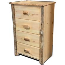 See Details - Rustic Red Pine 4-Drawer Chest