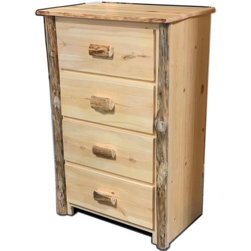 Rustic Red Pine 4-Drawer Chest