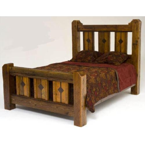 Mustang Canyon Deluxe Bed With Inlaid Panels