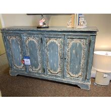 Distressed Vintage Style Blue Console