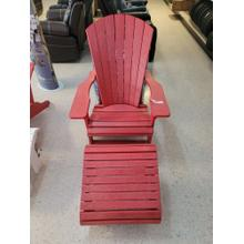 See Details - C01-01, FO4-01 CLASSIC ADIRONDACK CHAIR & FOOTSTOOL, COLOR: RED