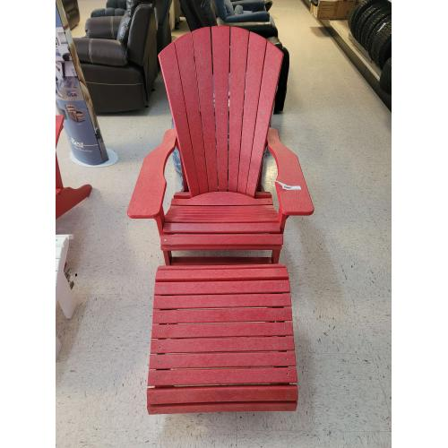 Gallery - C01-01, FO4-01 CLASSIC ADIRONDACK CHAIR & FOOTSTOOL, COLOR: RED