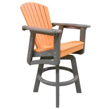 See Details - CLASSIC SWIVEL BAR HEIGHT ARM CHAIR
