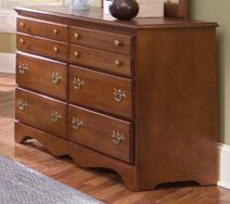Common Sense Cherry 6 Drawer Double Dresser