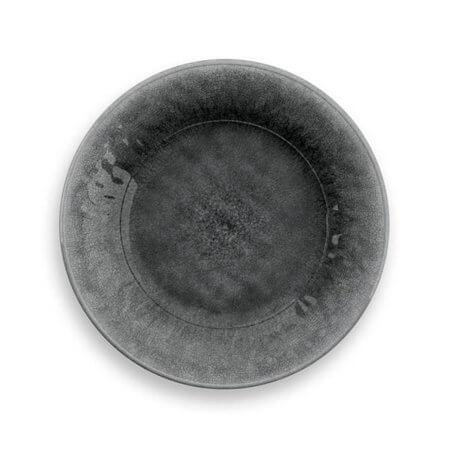 Potters Reactive Salad Plate Gray Heavy Mold