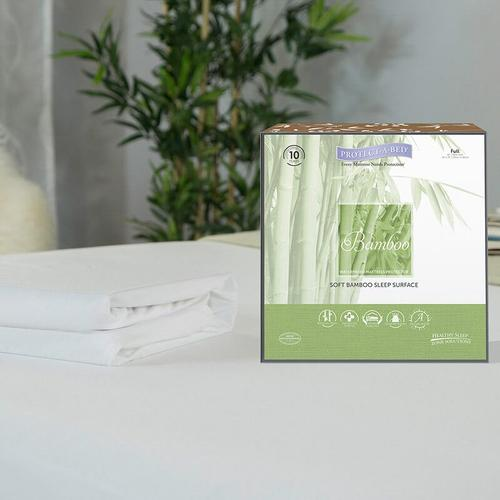 Protect-A-Bed - Bamboo Hypoallergenic Waterproof Mattress Pad Protector Queen