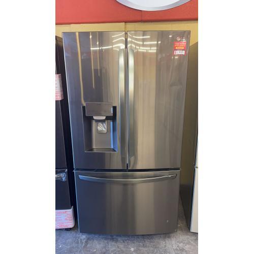 Treviño Appliance - LG French Door Smart Refrigerator  in PrintProof Black Stainless Steel