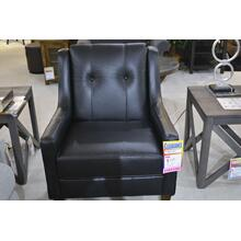 England leather accent chair.